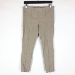 Dalia Khaki Textured Pull On Dress Pants Sz 12